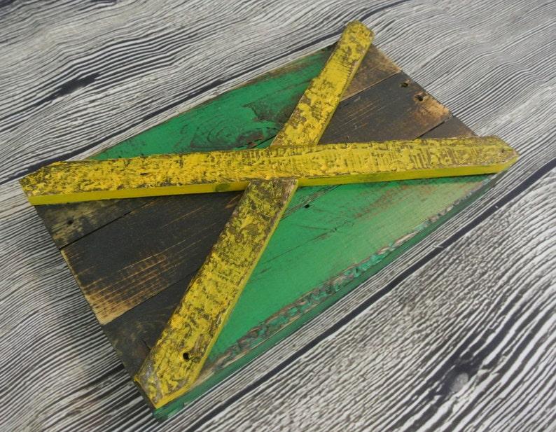 3d Jamaican Flag Jamaica Country Flag Reclaimed Wood Etsy