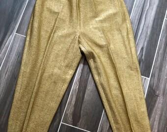 a691e193d33a92 Gold lurex pants | Etsy