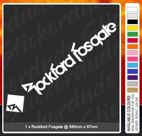 Large rockford fosgate 580mm vinyl sticker decal for car