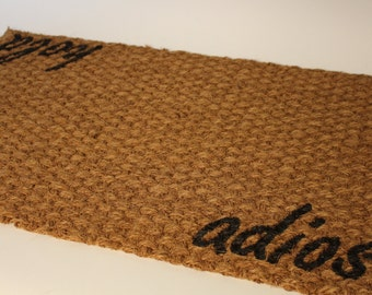THIN Hola   Adios Doormat (indoor Or Outdoor Use)