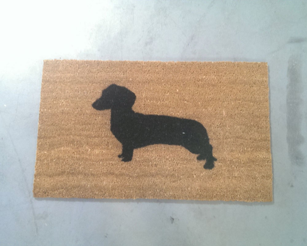 Felpudo perro salchicha elige tamaño | Etsy