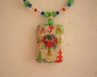 Chinese Handcrafted Papier-Mache Pendant