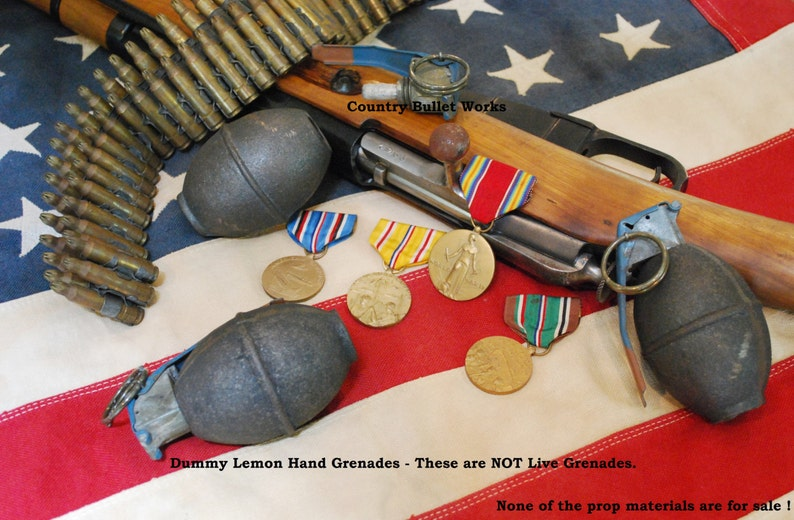 Dummy / Replica - M26 Lemon Grenade - Perfect for Crafts, Displays, Photo &  Movie Props, Training Aid