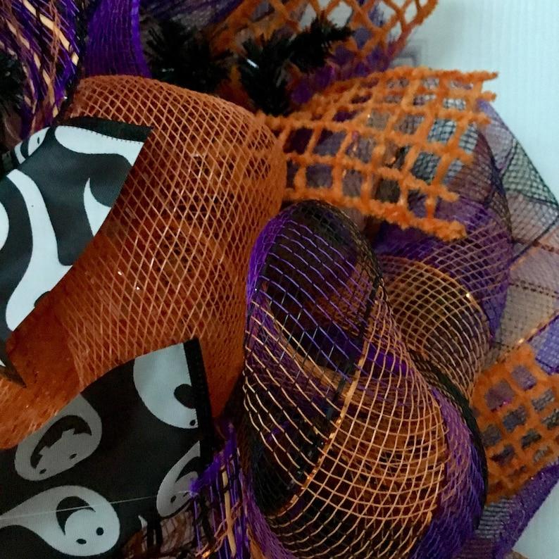 Halloween Ghost Deco Mesh Wreath Boo To You