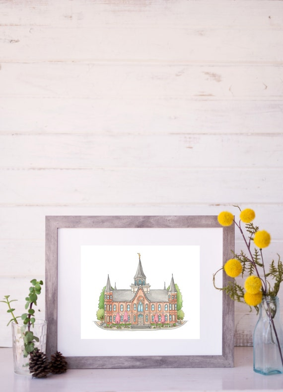Provo City Center LDS Temple Water Color Painting Print   Etsy