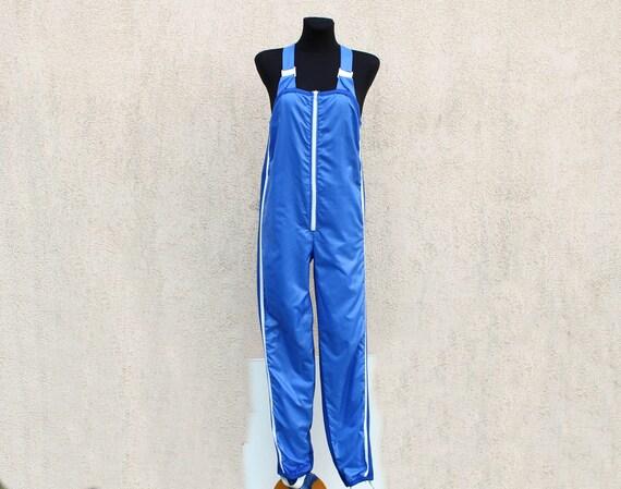 Vintage 80's Sports Onesie Unitard Zipper Unitard