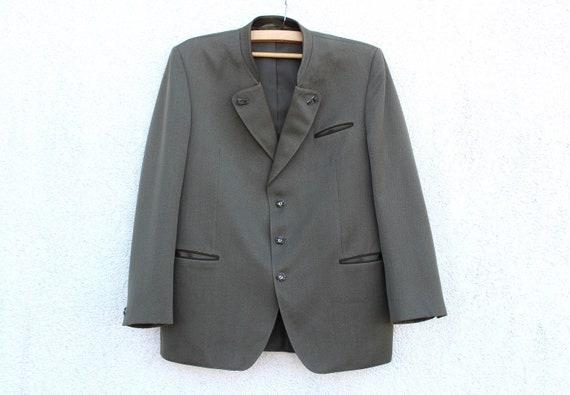 Vintage  Dirndl Blazer Men's Wool Trachten Blazer