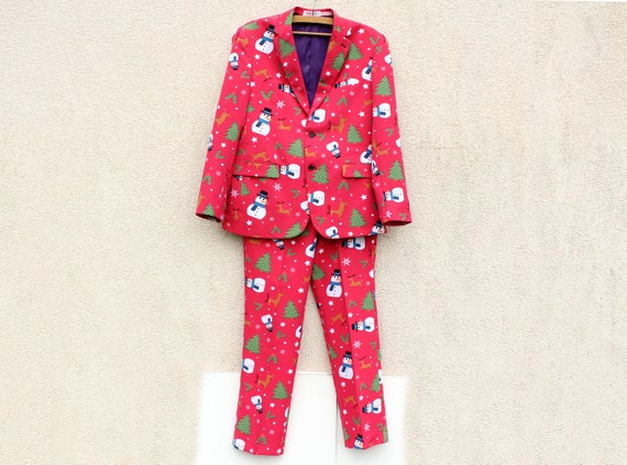 Cristmas Party Suit Men's Cristmas Costume Men's F
