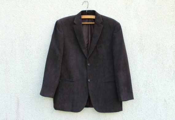 Vintage Brown Corduroy Blazer Men's Brown Corduroy
