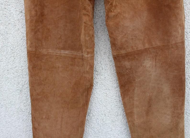 Vintage Brown Leather Pants Women/'s Genuine Leather Pants High Waisted Pants Biker Motorcycle Rocker Leather Boho Pants Large Size