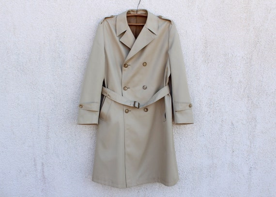 Vintage 80's Trench Coat Men's Made in Finland Tre