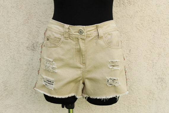 Vintage Distressed Jeans Shorts Women's Aztec Trib