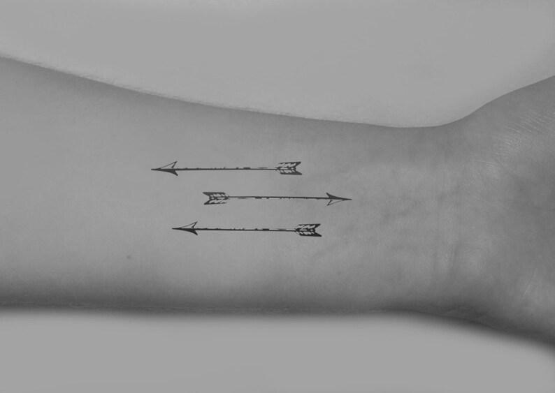 Vintage Strzałki Niegodziwie Piękny Skóra Sztuka Tymczasowe Tatuaże W Tym 9 Tatuaże