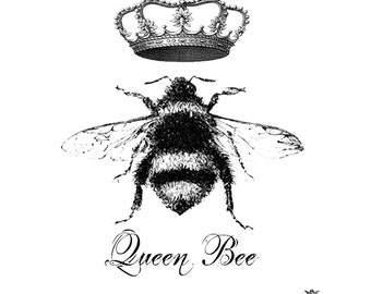 Queen Bee Wickedly Lovely Skin Art Temporary Tattoo