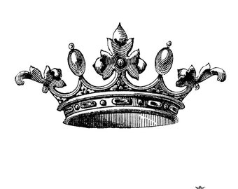 Large Crown WickedlyLovely skin art  temporary tattoo