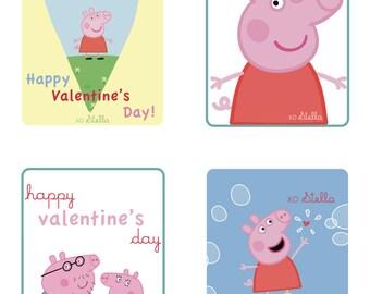 Peppa Pig CUSTOM Valentineu0027s Day Cards   PRINTABLE FILE