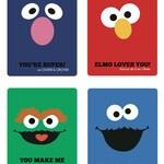 CUSTOM Sesame Street Valentines Cards - PRINTABLE FILE