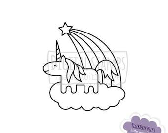 Digital Stamp - Unicorn