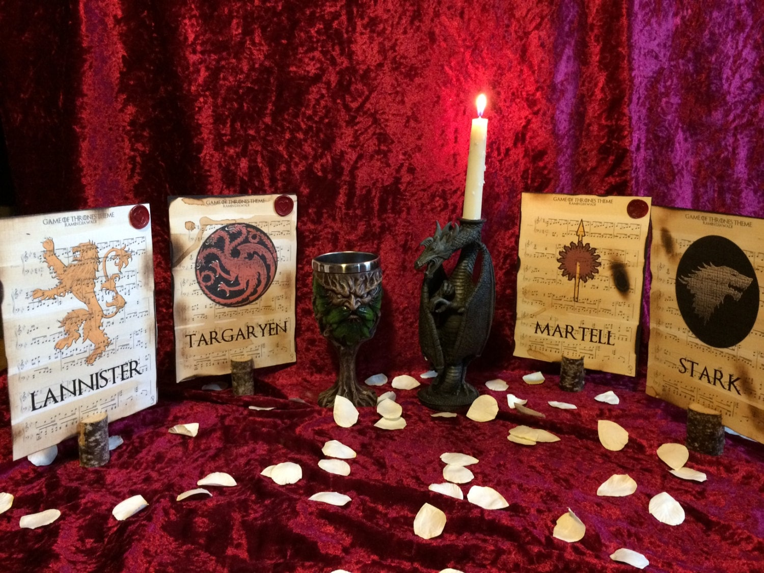 Game Of Thrones Themed Wedding Table Dcor Wedding Table