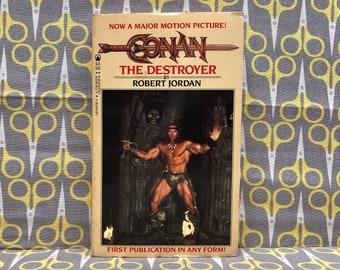 Conan The Destroyer by Robert Jordan paperback book Movie Tie In