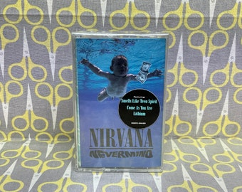 Sealed Nevermind by Nirvana Cassette Tape grunge rock alternative Kurt Cobain Dave Grohl Vintage