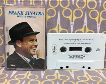 Sings and Swings by Frank Sinatra Cassette Tape Vintage Music