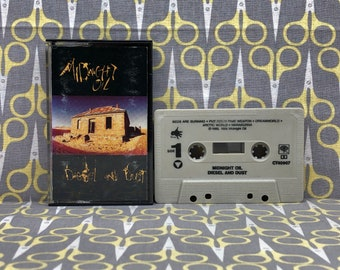 Diesel and Dust by Midnight Oil Cassette Tape Vintage Music