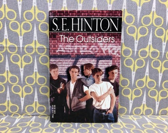 The Outsiders by SE Hinton paperback book vintage teen drama 1989 Dell Edition