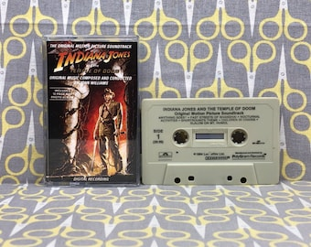 Indiana Jones and the Temple of Doom by John Williams Original Soundtrack Cassette Tape