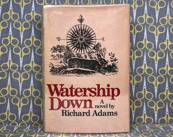 Watership Down by Richard Adams Hardcover Book Dust Jacket First American Edition