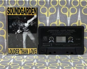 Louder than Love by Soundgarden Cassette Tape rock