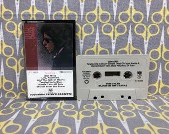 Blood on the Tracks by Bob Dylan Vintage Cassette Tape rock