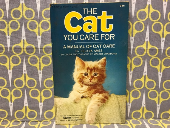 the cat you care for by felicia ames paperback book vintage a etsy rh etsy com Cat Diesel Engines Cat Operations and Maintenance Manual
