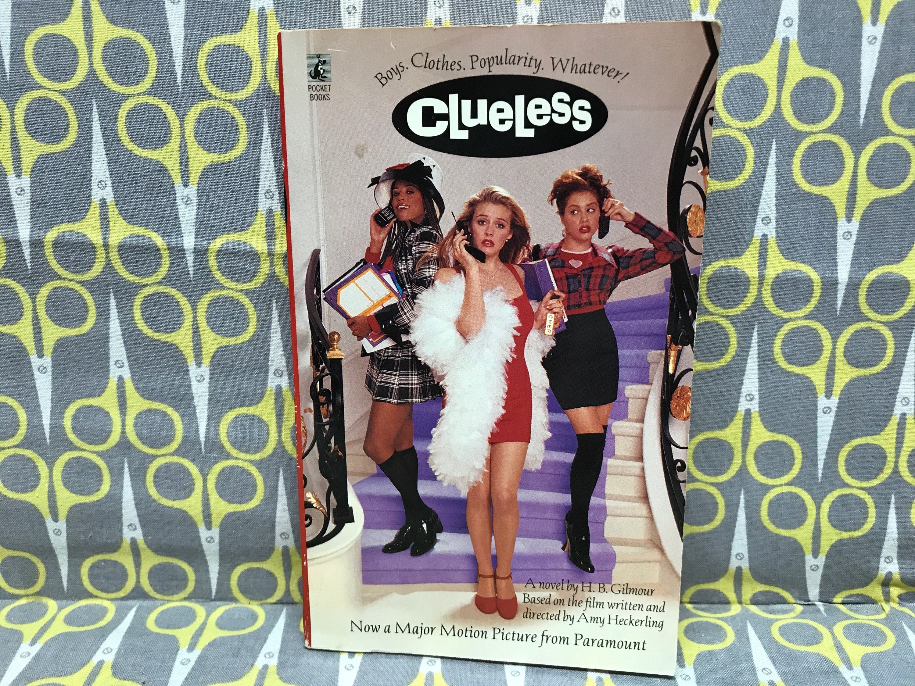Clueless by HB Gilmour paperback book vintage movie novel