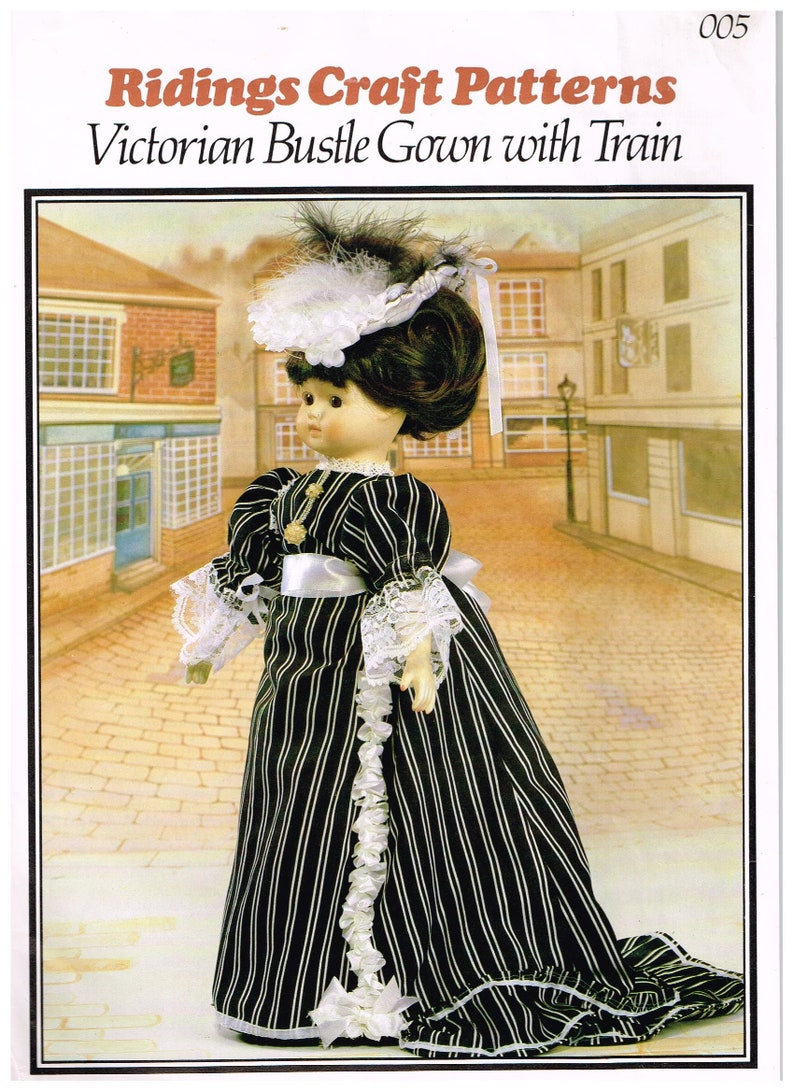 Riding Craft Pattern Victorian Bustle Gown with Train