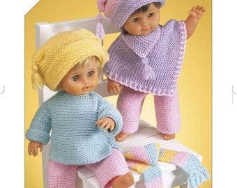 Hayfield Doll Clothes Bonus DK Knitting Pattern 3123