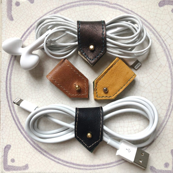Leather Cable Organizers