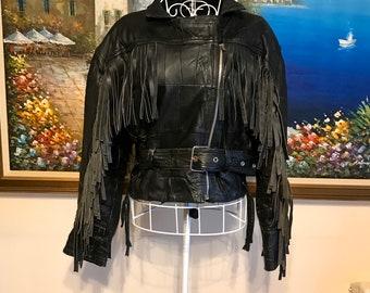 Missy Ladies Women/'s Black Short Cropped Biker Gothic Punk Nappa Leather Jacket