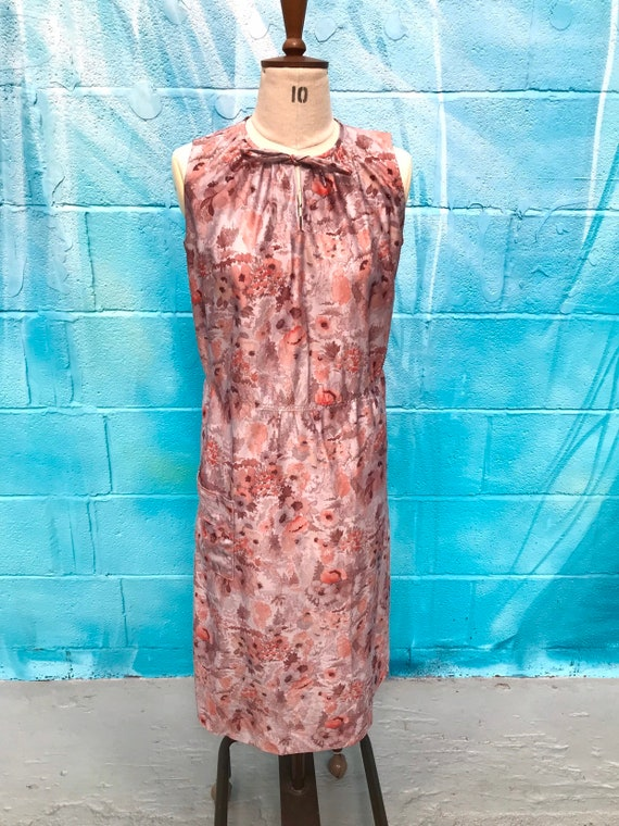 Vintage dress vintage pinafore 80s dress brown pin