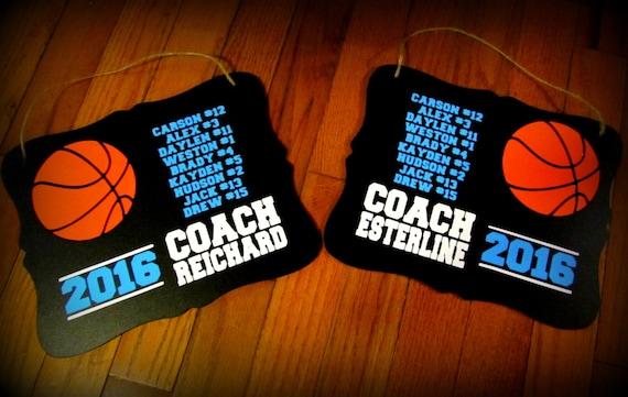 basketball coach gift coach gift basketball coach etsy