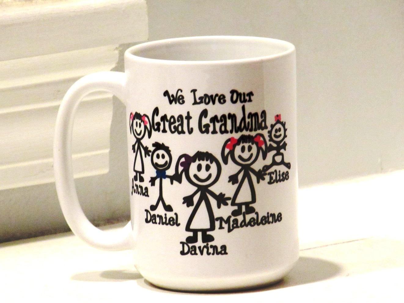 personalized great grandma gift great grandpa mug unique etsy