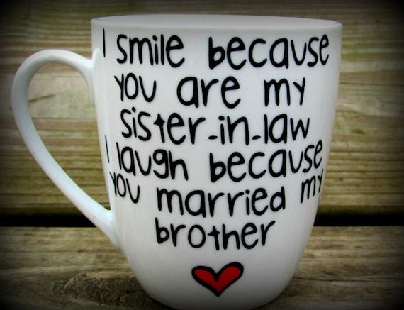 Sister In Law Sister In Law Gift Sister In Law Mug Sister Etsy