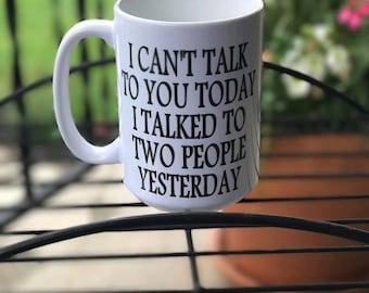 Funny mug, Introvert gift, Introvert mug, gifts for introverts, Humor mug, Humor gift, Funny gift, Coffee addict, Coffee lover mug