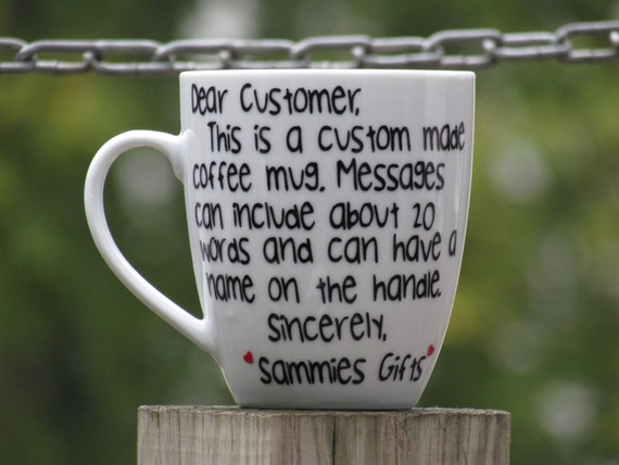 Custom Message Cup Personalized Message Cup Best Friend Etsy