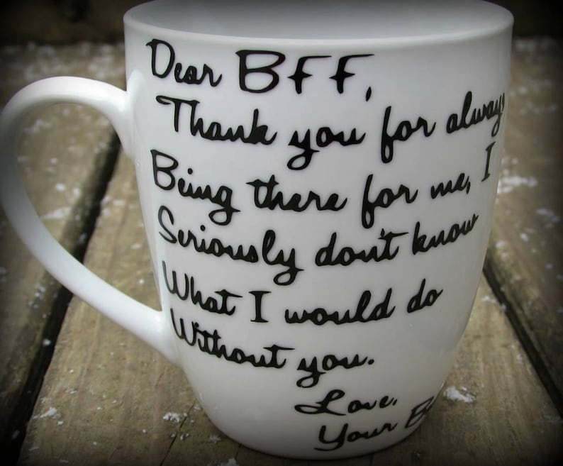 Personalized Best Friend Mug Dear BFF Thank You Gift