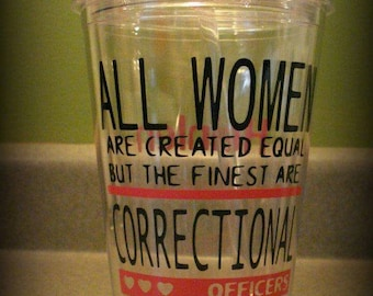 Personalized Corrections Cup, Correctional Officer Gift, Correctional Officer Clear Cup, CO Tumbler, Corrections Gift