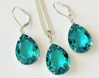 blue zircon jewelry etsy