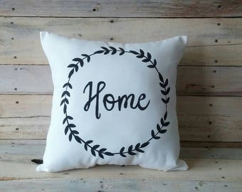 Home Decorative Pillow Cover, Farmhouse Pillow, Pillow Cover, Throw Pillow, Decorative Pillow, Accent Pillow, Black and White Pillow
