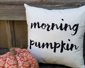 Morning Pumpkin Pillow Cover Etsy