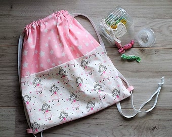 Kindergarten Backpack/Toy carrier with fairy and stars